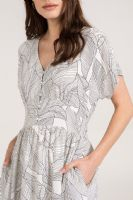 WHITE LEAF PRINT BUTTON MIDI DRESS NEW SIZES 8-16